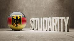 Germany. Solidarity Concept. - stock illustration