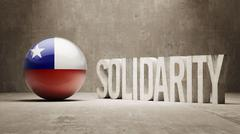 Chile. Solidarity Concept. Stock Illustration