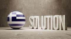 Stock Illustration of Greece. Solution Concept.