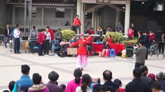 Shenzhen Baoan Xixiang Park singing performances Stock Footage