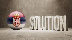 Serbia. Solution Concept. - stock illustration