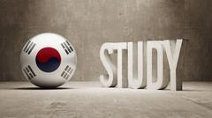 Stock Illustration of South Korea. Study Concept.