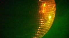 Discoball Spinning in a Closeup Stock Footage