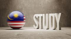 Stock Illustration of Malaysia. Study Concept.
