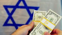 American dollars israel symbol Stock Footage