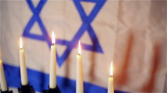 Israel jewish flag Stock Footage