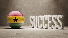 Stock Illustration of Ghana. Success Concept.