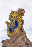The golden emblem of Hesse in germany, the lion Stock Photos