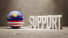 Malaysia. Support Concept. - stock illustration