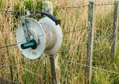 Electric Fence Reel Stock Photos