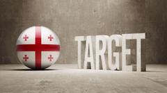 Stock Illustration of Georgia Target Concept.