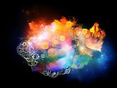 Dance of Design Nebulae - stock illustration