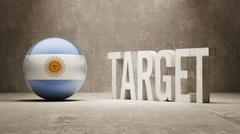 Argentina. Target Concept. - stock illustration