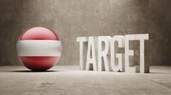 Stock Illustration of Austria. Target Concept.