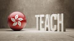 Hong Kong. Teach Concept. - stock illustration