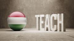 Hungary. Teach Concept. - stock illustration