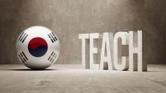 South Korea. Teach Concept. - stock illustration