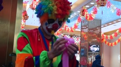 The clown in the gold jewelry shop promotion Stock Footage
