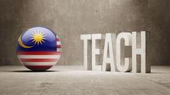 Malaysia. Teach Concept. - stock illustration