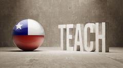 Chile. Teach Concept. - stock illustration