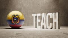 Ecuador. Teach Concept. - stock illustration