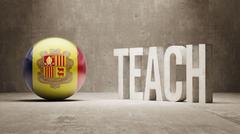 Andorra. Teach Concept. - stock illustration