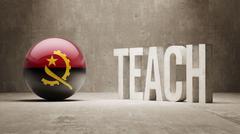 Angola. Teach Concept. - stock illustration