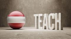 Austria. Teach Concept. - stock illustration