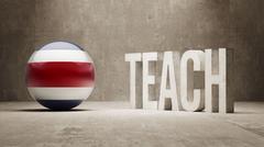 Costa Rica. Teach Concept. - stock illustration