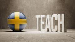 Sweden. Teach Concept. - stock illustration