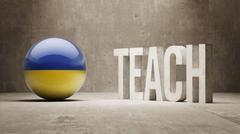 Ukraine. Teach Concept. - stock illustration