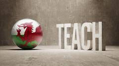 Wales. Teach Concept. - stock illustration