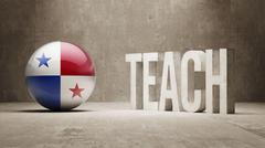 Panama. Teach Concept. - stock illustration