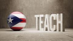 Puerto Rico. Teach Concept. - stock illustration