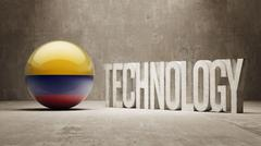 Colombia. Technology Concept. - stock illustration