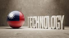 Taiwan. Technology Concept. - stock illustration