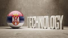 Stock Illustration of Serbia. Technology Concept.