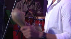 Percussion instruments salsa music Stock Footage