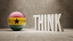 Ghana. Think Concept. - stock illustration