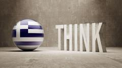 Stock Illustration of Greece. Think Concept.