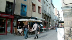 Rue St. George - Rennes France Stock Footage