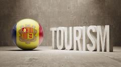 Andorra. Tourism Concept. Stock Illustration