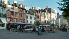 Place Saint Michel - Rennes France Stock Footage