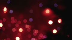 Slow motion, firework's bokeh lights Stock Footage