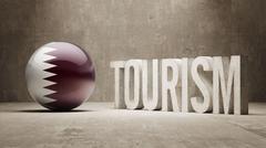 Qatar. Tourism Concept. - stock illustration