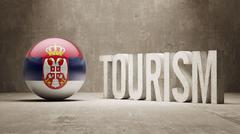 Serbia. Tourism Concept. - stock illustration