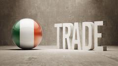 Stock Illustration of Ireland. Trade Concept.