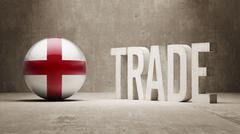 England. Trade Concept. - stock illustration