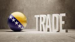 Bosnia and Herzegovina. Trade Concept. - stock illustration