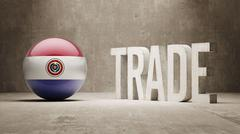 Stock Illustration of Paraguay. Trade Concept.